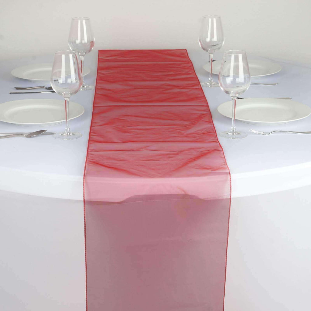 Table Runner Organza - Red