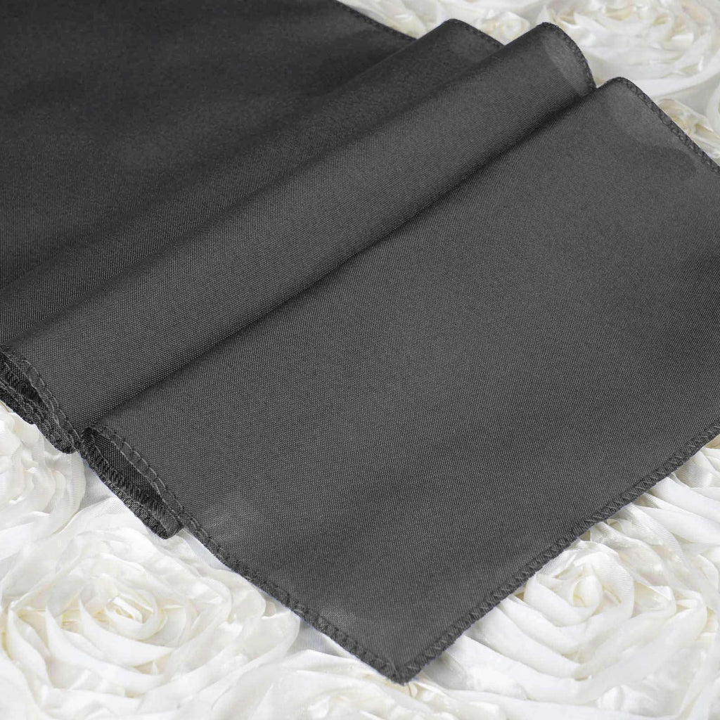 "12""x108"" Charcoal Gray Polyester Table Runner"