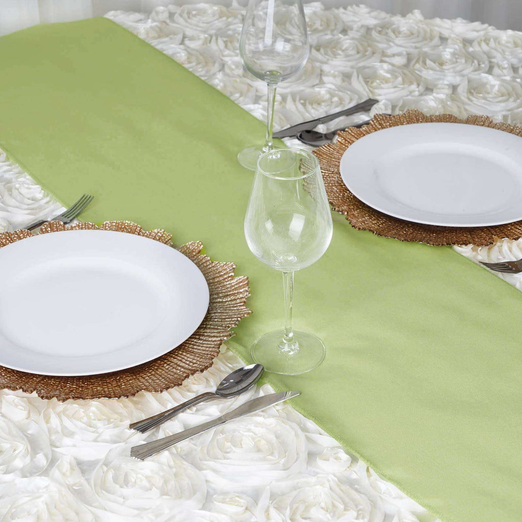 APPLE GREEN Polyester Runner - Table Top Wedding Catering Party Decorations - 12x108""
