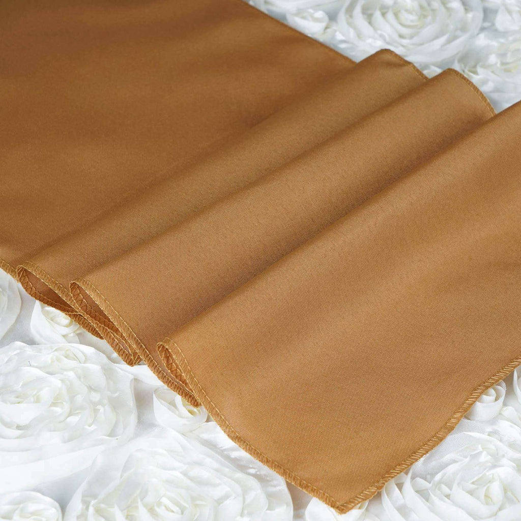 GOLD Polyester Runner - Table Top Wedding Catering Party Decorations - 12x108""