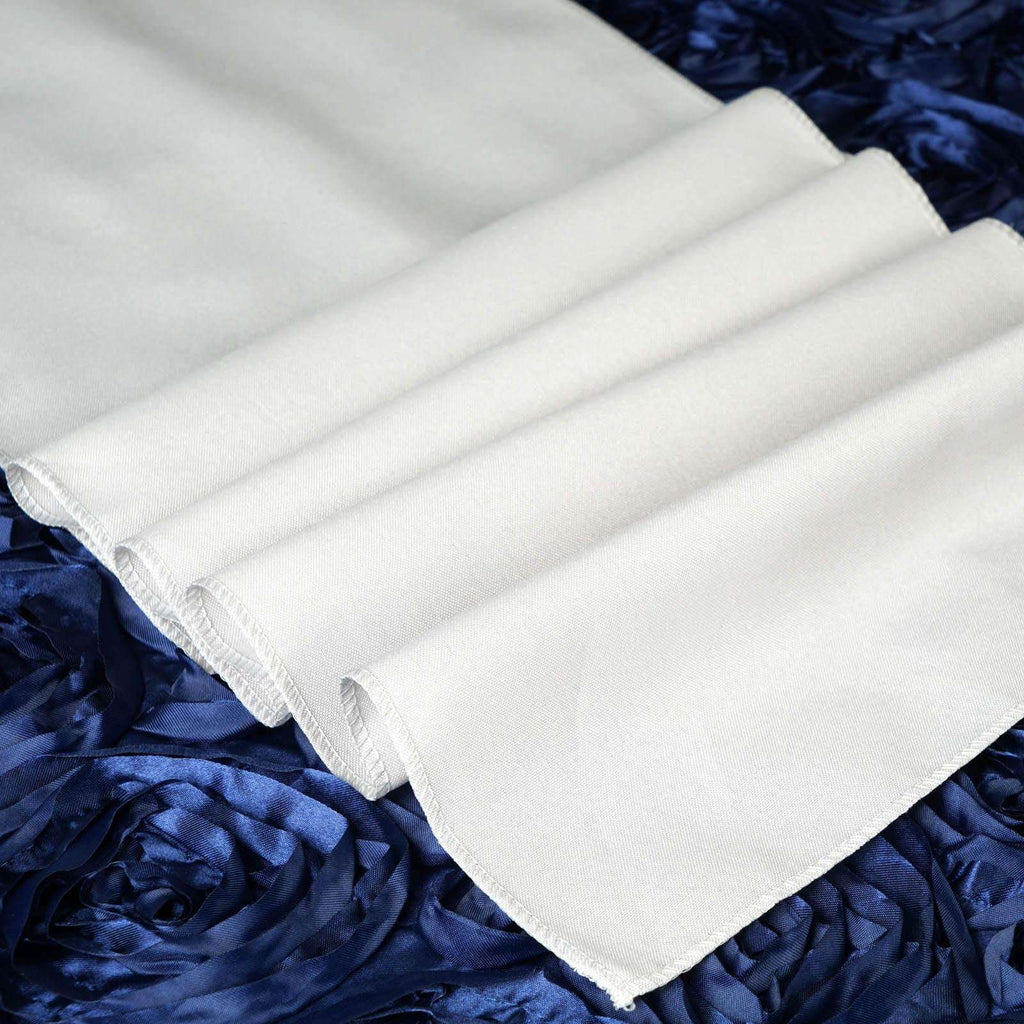 IVORY Polyester Runner - Table Top Wedding Catering Party Decorations - 12x108""