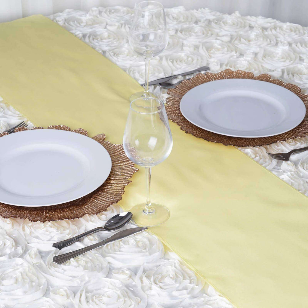 YELLOW Polyester Runner - Table Top Wedding Catering Party Decorations - 12x108""