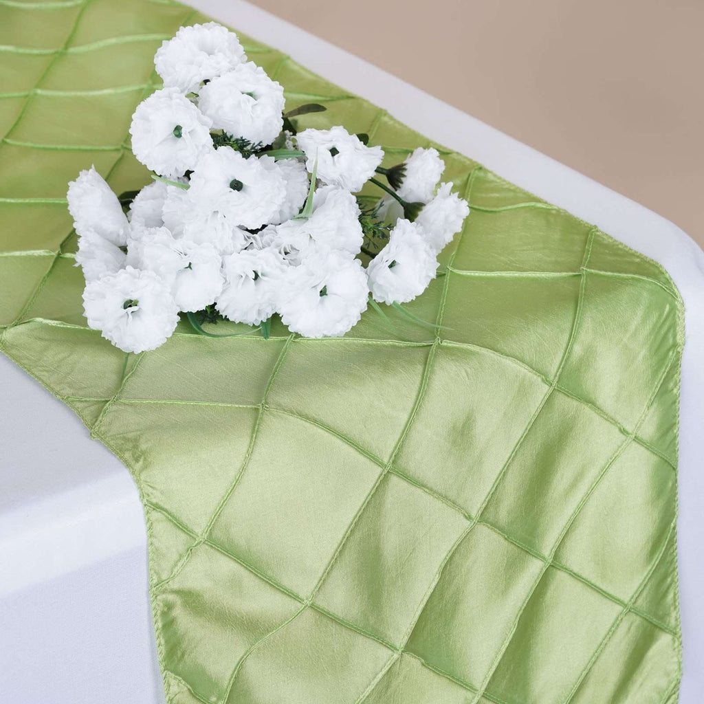 Table Runner Pintuck - Apple Green