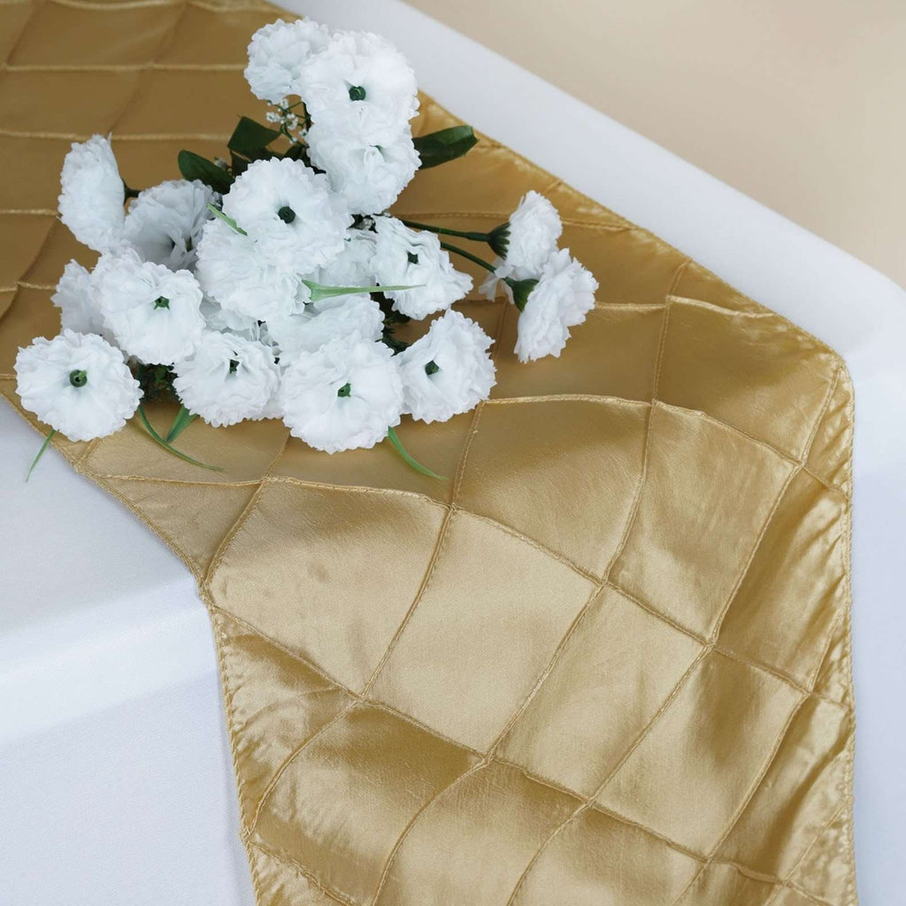Table Runner Pintuck - Champagne