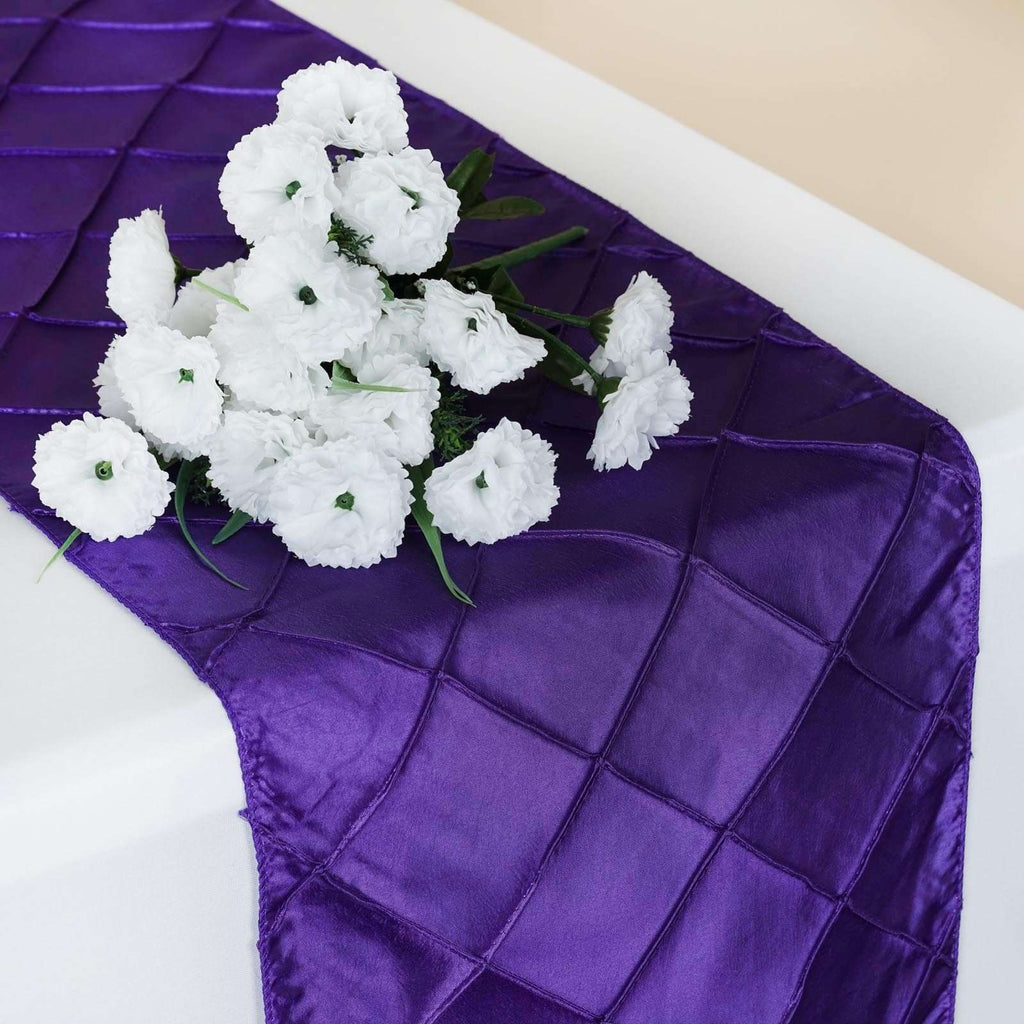 Table Runner Pintuck - Purple