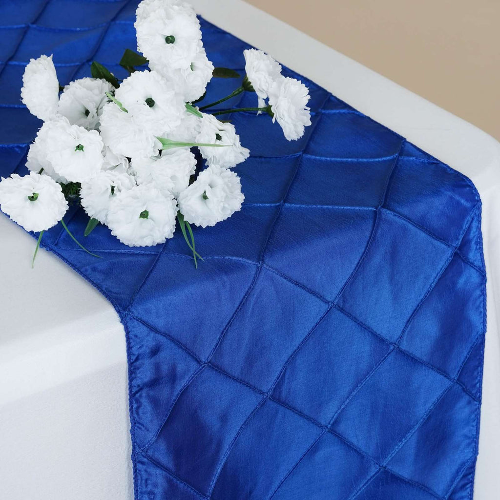 Table Runner Pintuck - Royal Blue