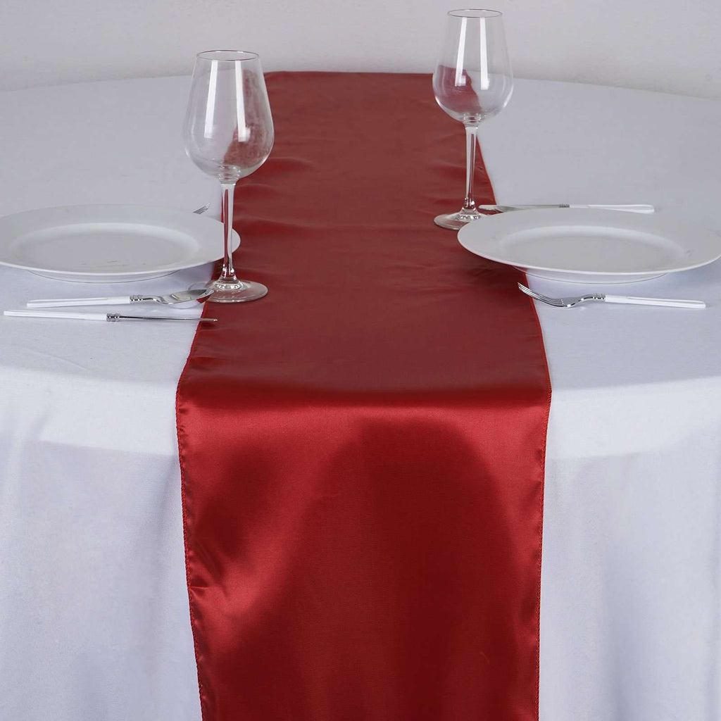 Satin Table Runner - Wine