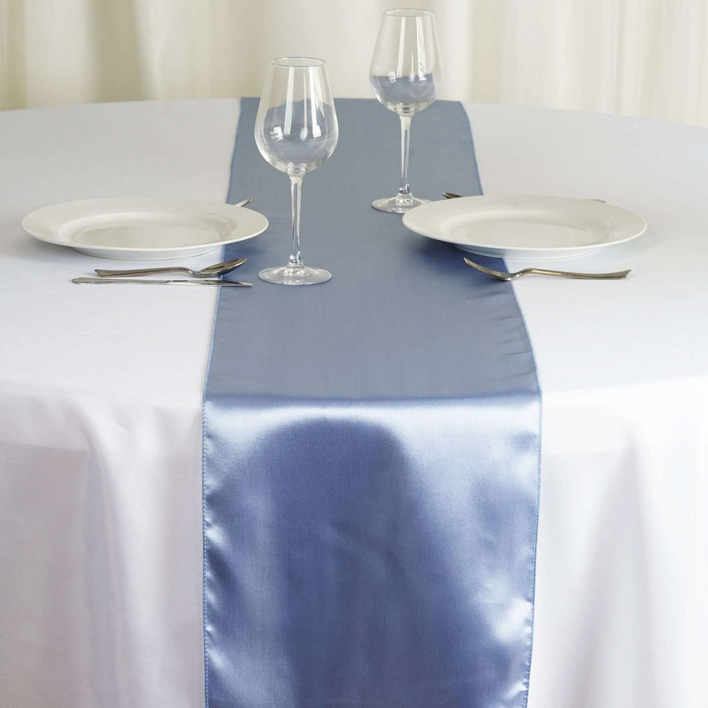 "12"" x 108"" SATIN Runner For Table Top Wedding Catering Party Decorations - Serenity"