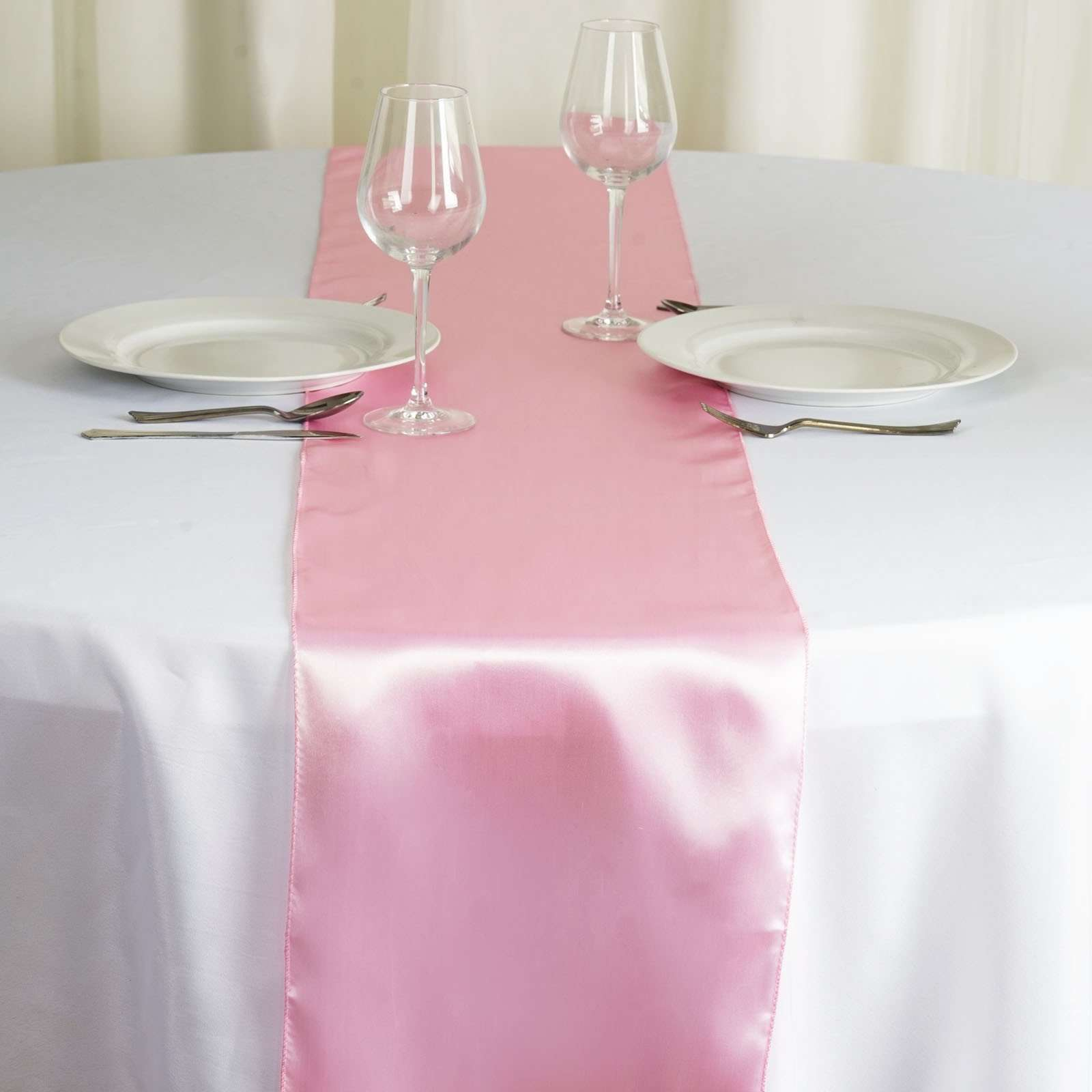 New~ Satin Table Runner Wedding Party Banquet Decoration 15+ Colors ...