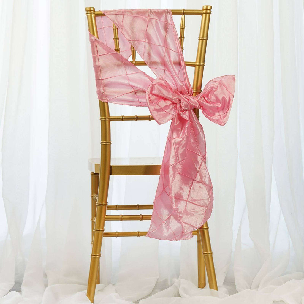 5pc x Chair Sash Pintuck - Pink