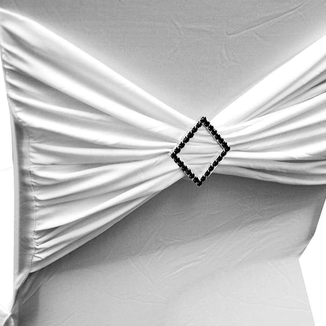 Black Diamond Chair Buckle Sash Pin Catering Wedding Party Decorations 2 X 2