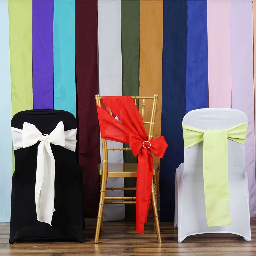 Chair Sash Polyester - sample lot - 25 colors