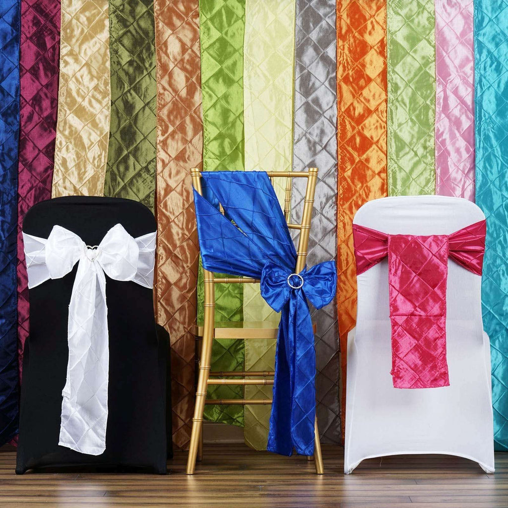 Chair Sash Pintuck - Sample Lot - 21 Colors