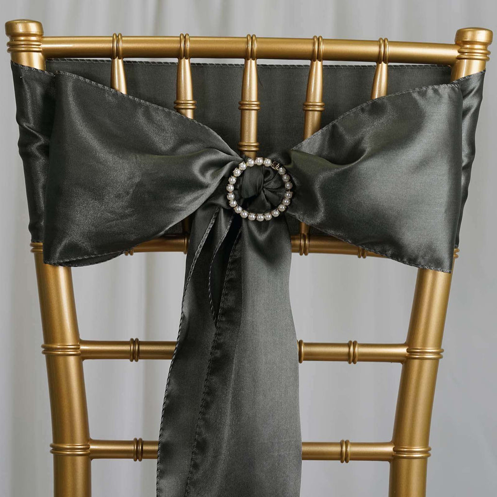 5pcs Laurel Green Satin Chair Sashes