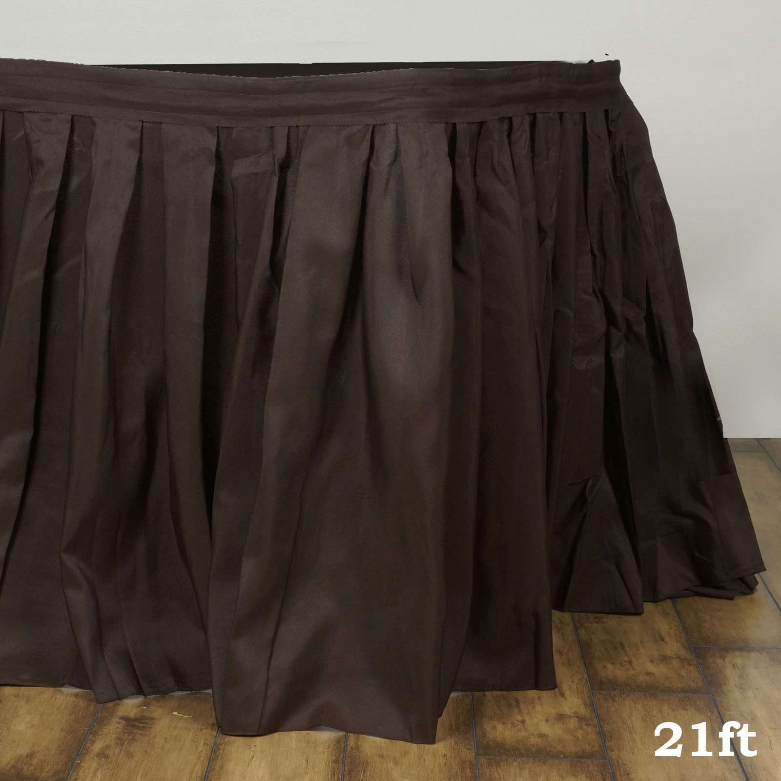 5c17d3082 21FT CHOCOLATE Wholesale Polyester Table Skirt For Wedding Banquet  Restaurant. 21FT CHOCOLATE Wholesale Polyester Table Skirt For Wedding  Banquet Restaurant