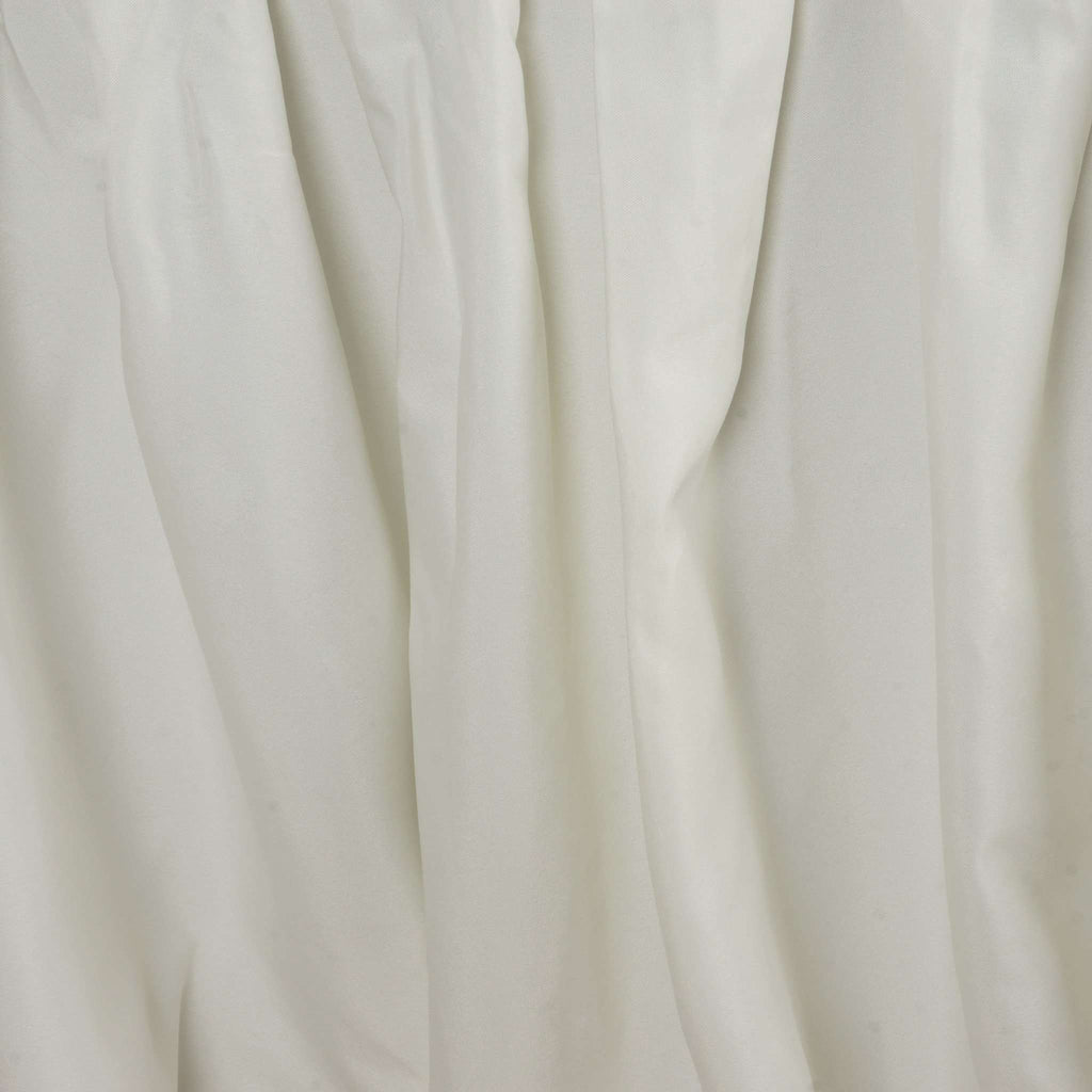21FT IVORY Wholesale Polyester Table Skirt For Wedding Banquet Restaurant
