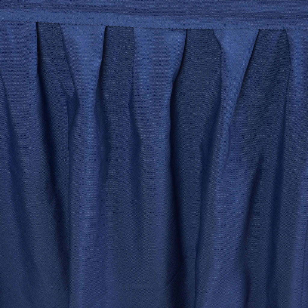 17FT NAVY BLUE Wholesale Polyester Table Skirt For Wedding Banquet Restaurant