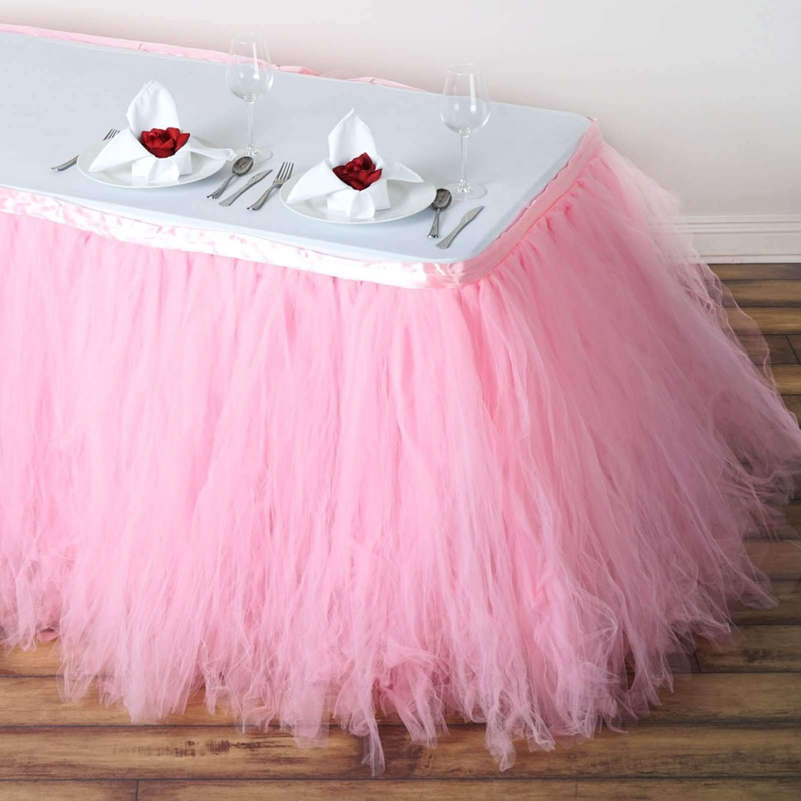 10 Colors Tulle Tutu Table Skirt Cover Table Cloth Birthday Wedding Party Decor