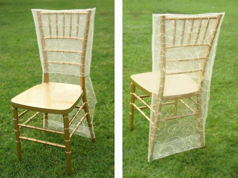 Chair Slipcover Embroider - Ivory
