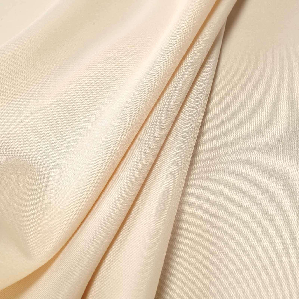 "108"" BEIGE Wholesale Polyester Round Tablecloth For Wedding Banquet Restaurant"