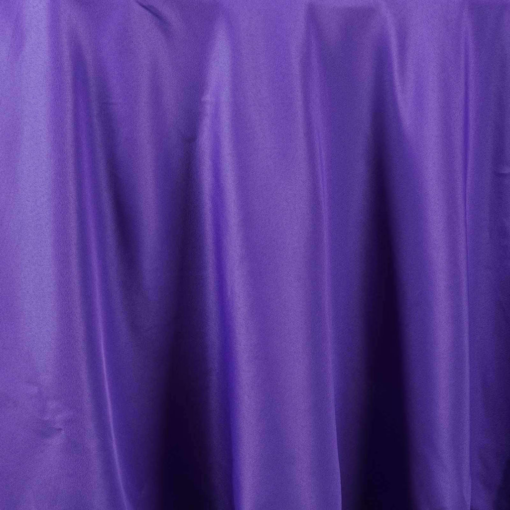 "108"" PURPLE Wholesale Polyester Round Tablecloth For Wedding Banquet Restaurant"