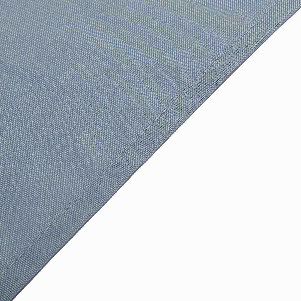 "120"" Dusty Blue Polyester Round Tablecloth"