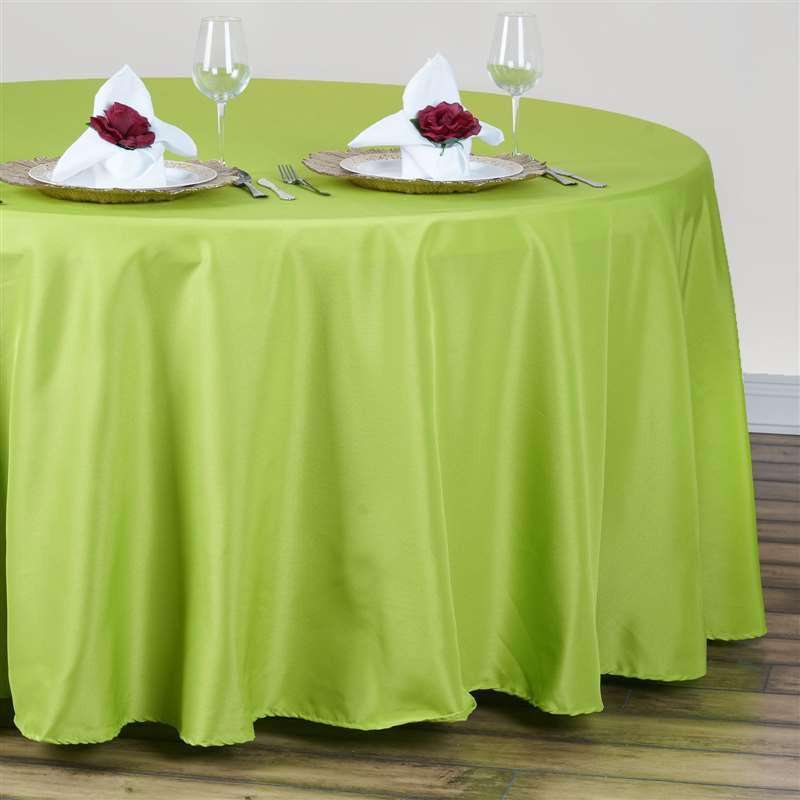 "120"" SAGE GREEN Wholesale Polyester Round Tablecloth For Wedding Banquet Restaurant"