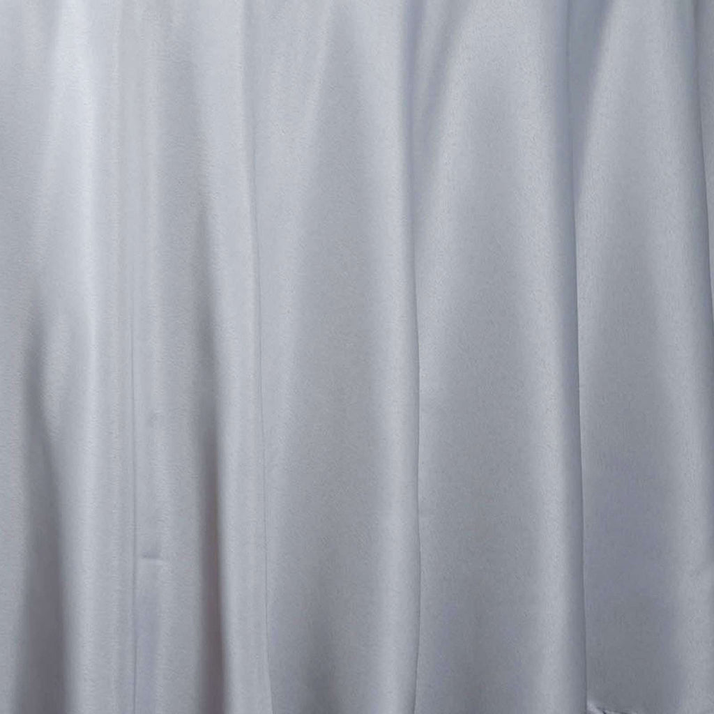 "120"" SILVER Wholesale Polyester Round Tablecloth For Wedding Banquet Restaurant"