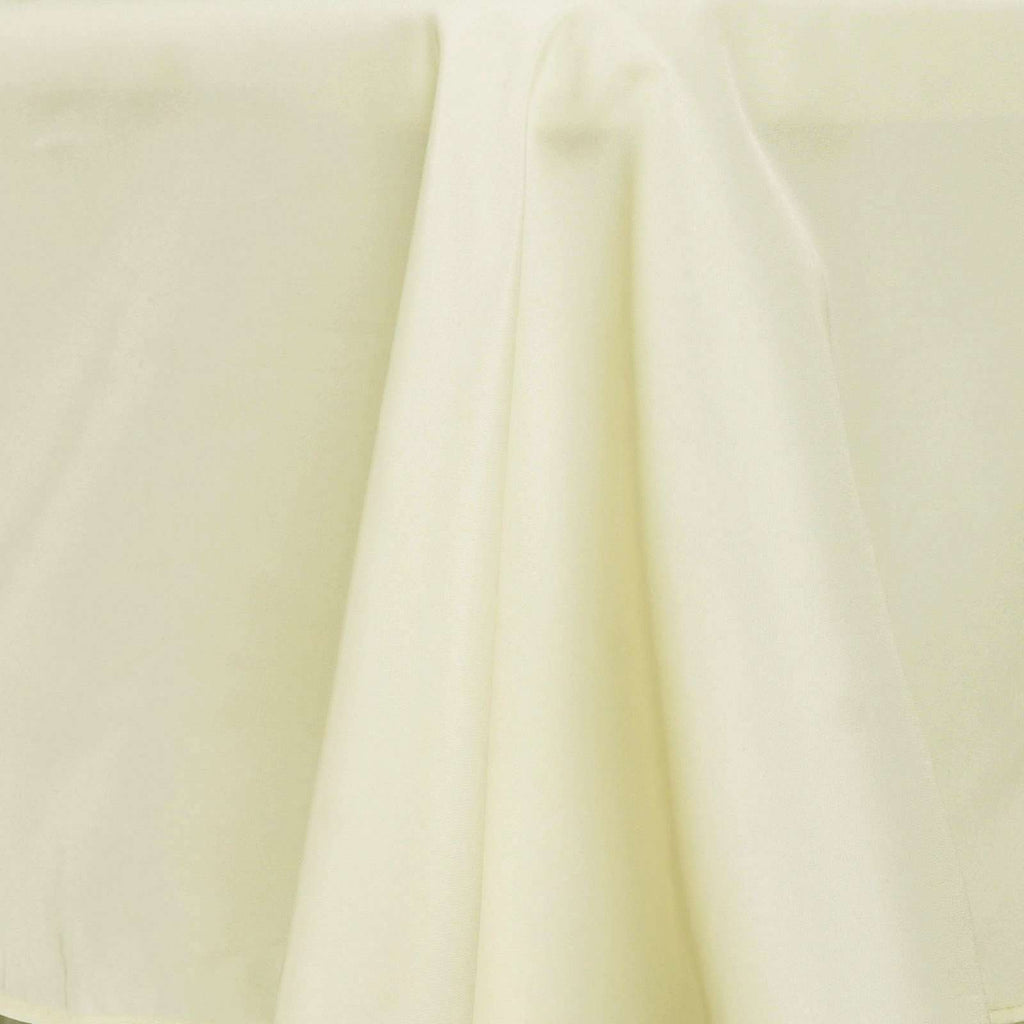 "54""x96"" Ivory Wholesale Polyester Rectangular Oblong Banquet Linen Tablecloth"