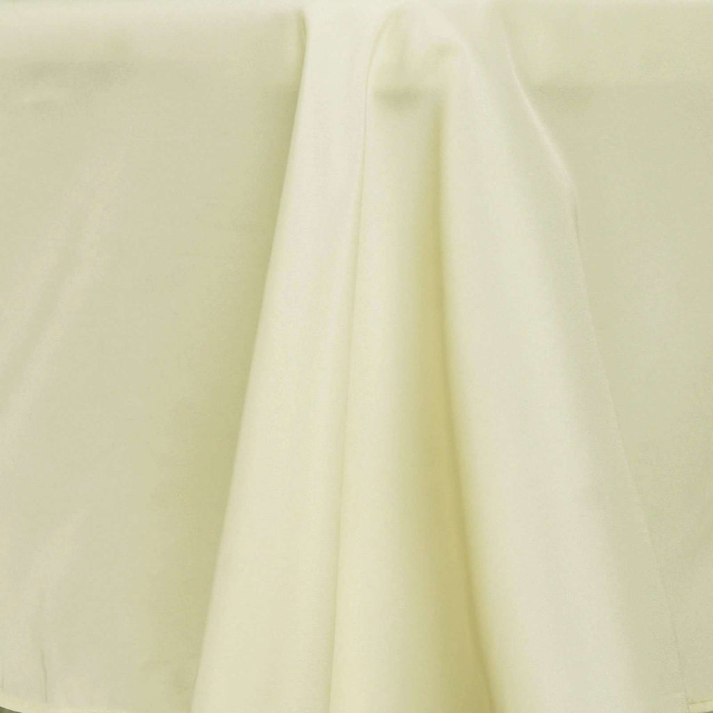 "60x102"" Seamless Premium IVORY Wholesale Polyester Tablecloth For Wedding Banquet Restaurant"