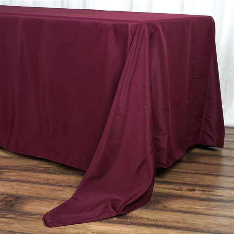 "72""x120"" Burgundy Wholesale Polyester Rectangular Linen Tablecloth"