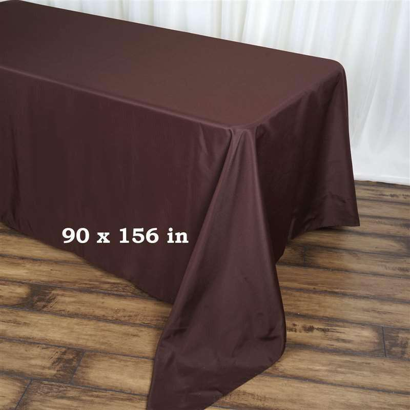 "90x156"" CHOCOLATE Wholesale Polyester Banquet Linen Wedding Party Restaurant Tablecloth"