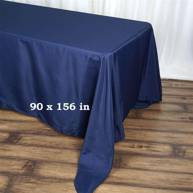 "90x156"" NAVY BLUE Wholesale Polyester Banquet Linen Wedding Party Restaurant Tablecloth"