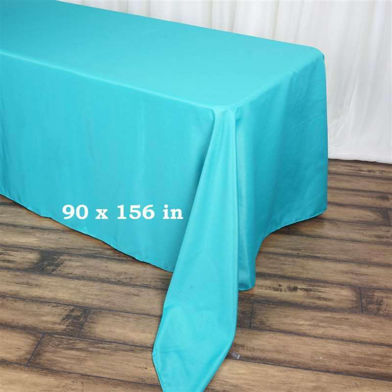 "90x156"" TURQUOISE Wholesale Polyester Banquet Linen Wedding Party Restaurant Tablecloth"