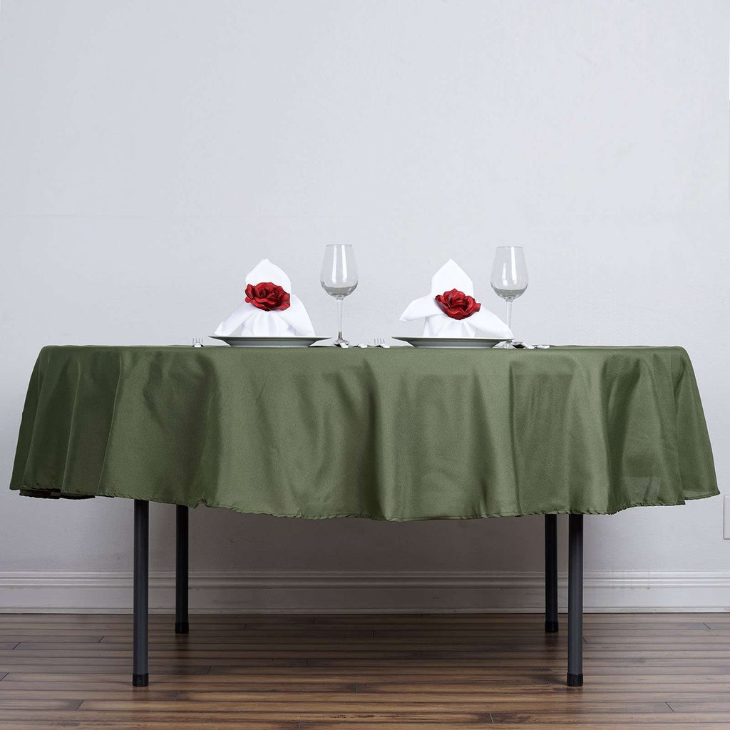 "90"" WILLOW GREEN Wholesale Polyester Round Tablecloth For Wedding Banquet Restaurant"