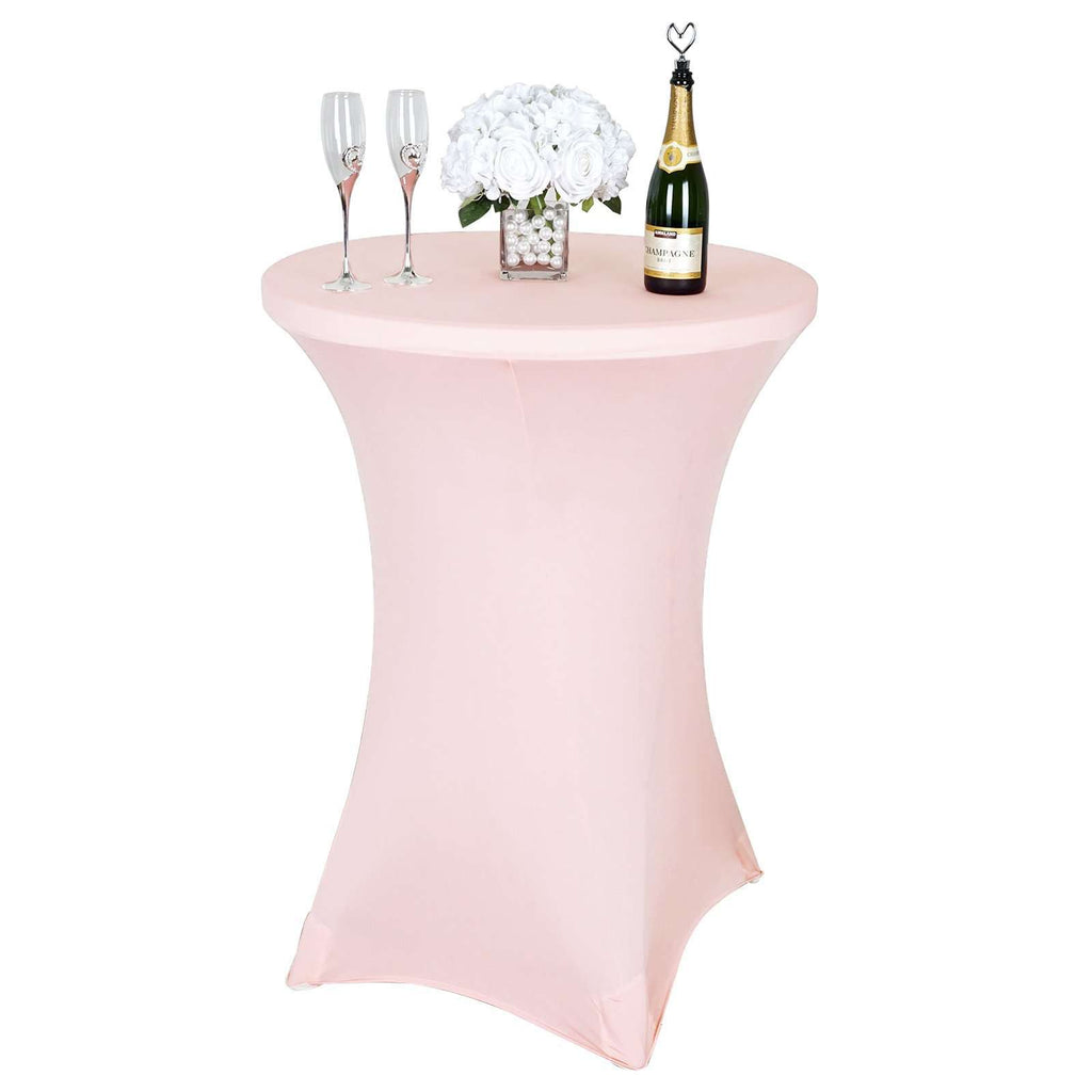 Blush Wholesale Cocktail Spandex Wedding Party Bar Restaurant Tablecloth