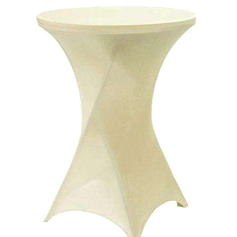 Cocktail Spandex Table Cover - Ivory