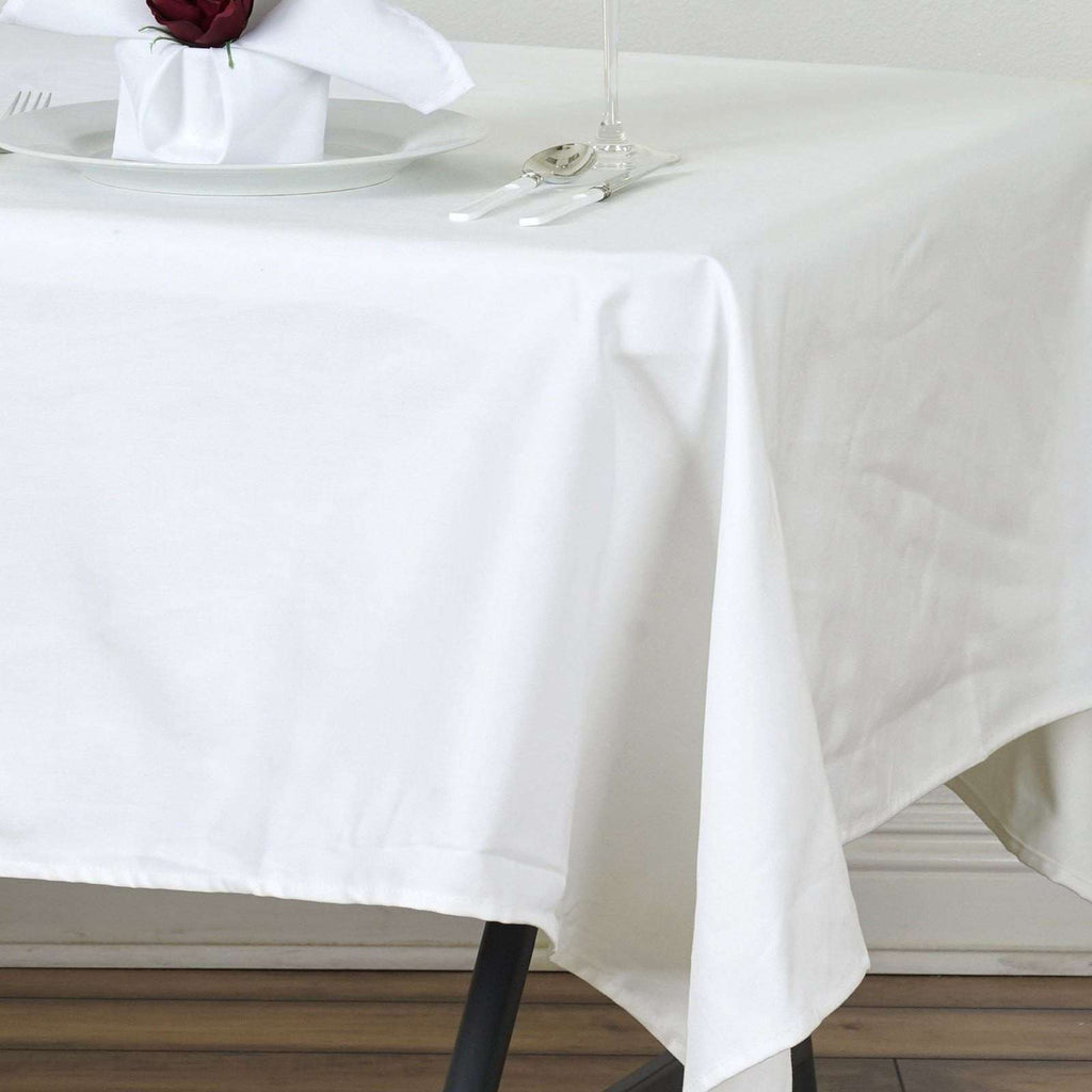 "Chambury Casa *100"" Cotton Tablecloth - Ivory 60x102"