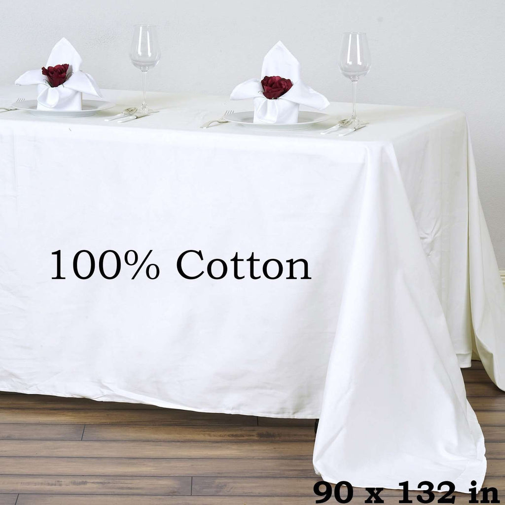Chambury Casa *100% Cotton Tablecloth - Ivory 90x132""
