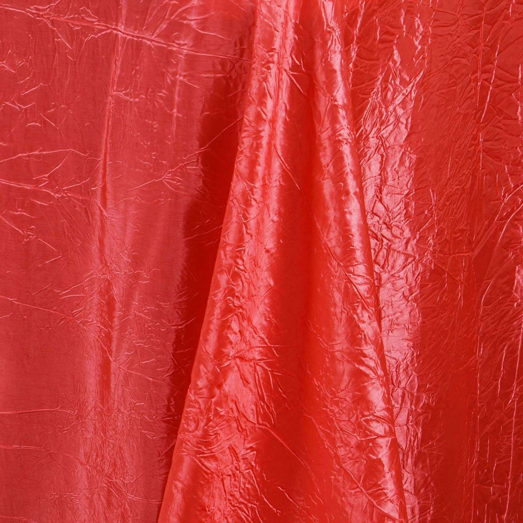 "60x102"" Coral Crinkle Taffeta Tablecloth For Catering Wedding Party Decorations"