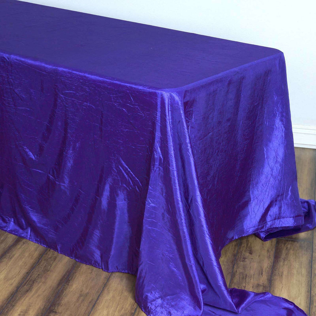 Purple Crinkle Taffeta Tablecloth 90x156""