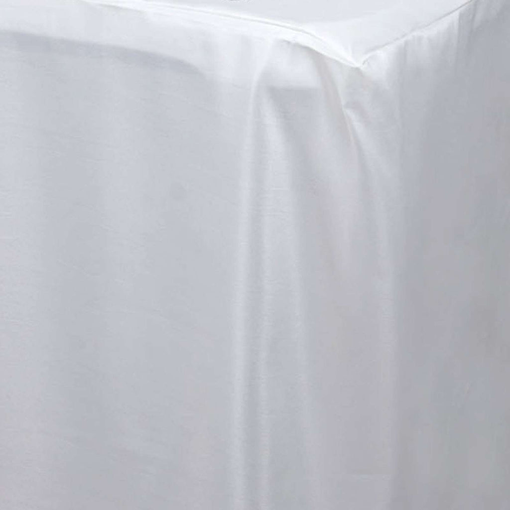 4FT Fitted IVORY Wholesale Polyester Table Cover Wedding Banquet Event Tablecloth