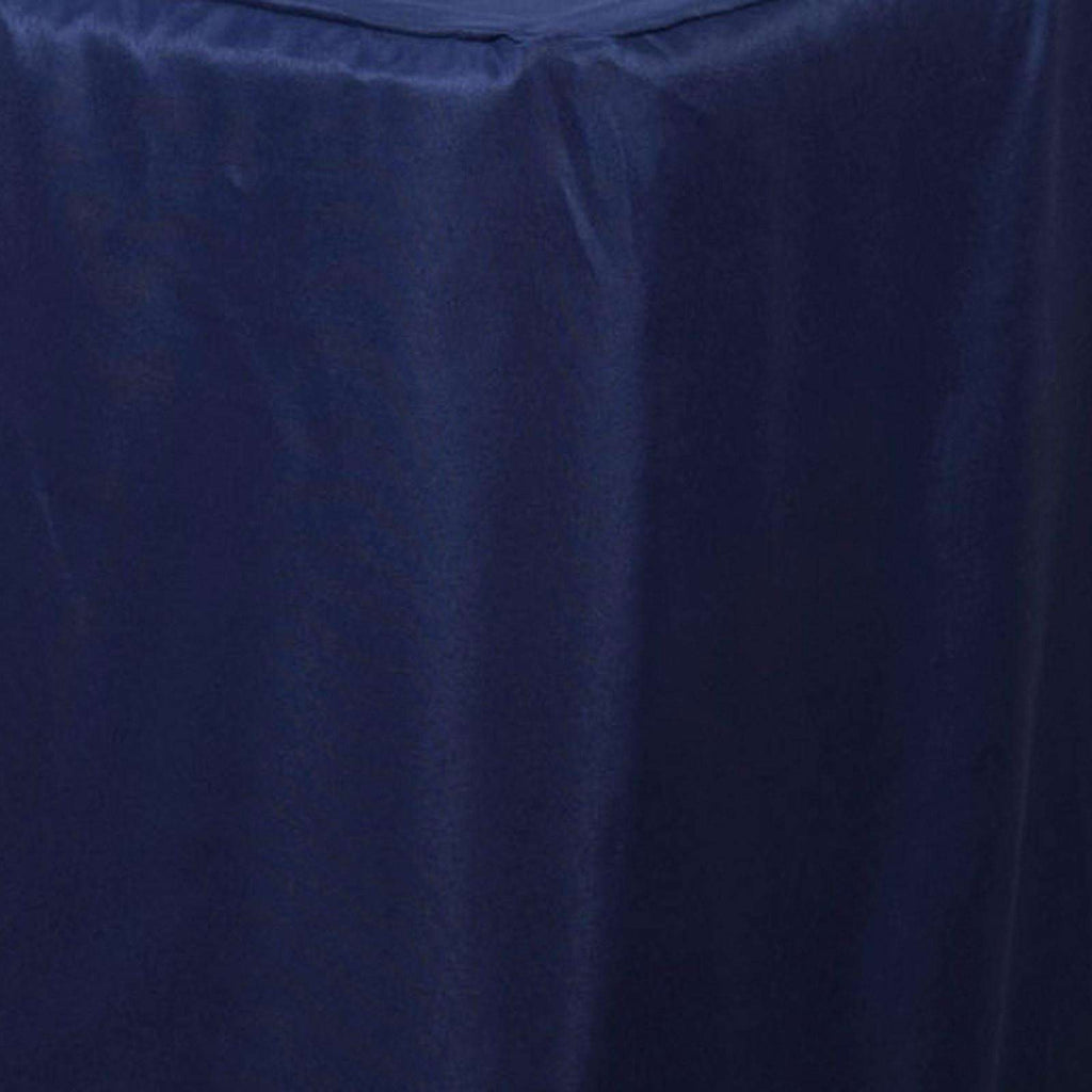 8FT Fitted NAVY BLUE Wholesale Polyester Table Cover Wedding Banquet Event Tablecloth