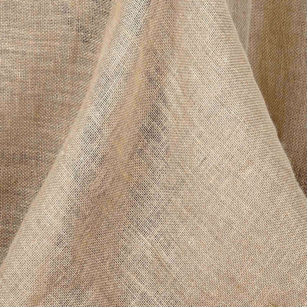 "60x126"" Rectangle Rustic Burlap Tablecloth - Natural Tone"