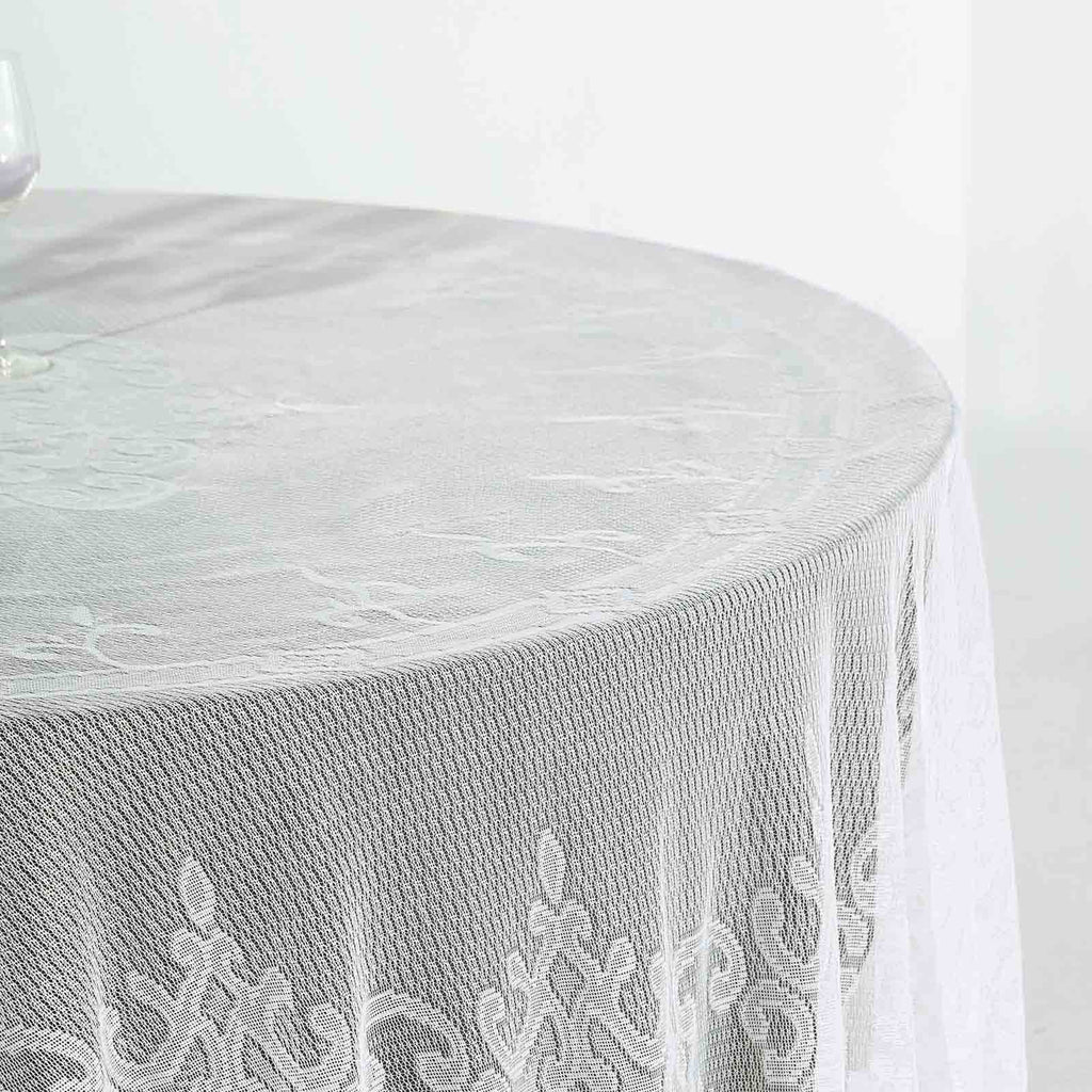 Lace Tablecloths, 108 inch Round Tablecloth, Ivory Tablecloths | chaircoverfactory