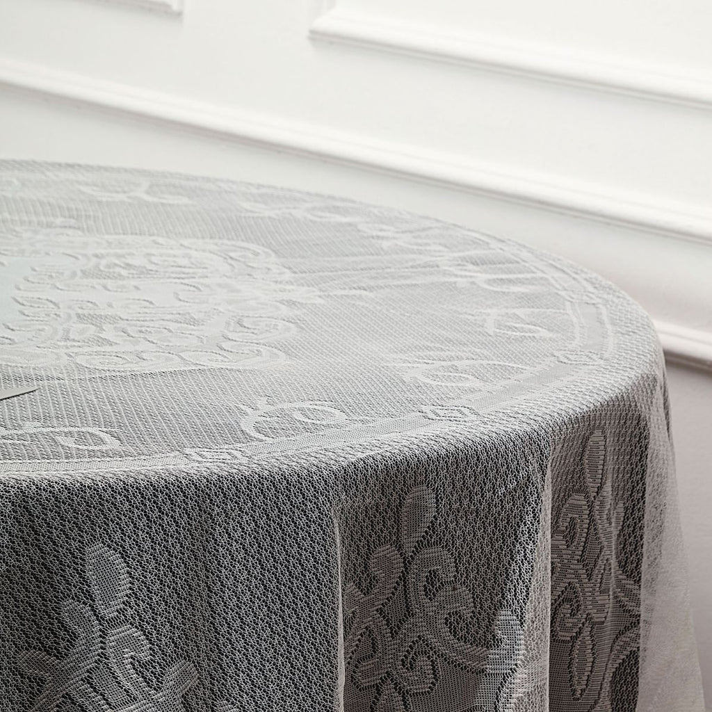 Lace Tablecloths, 90 inch Round Tablecloth, Ivory Tablecloths
