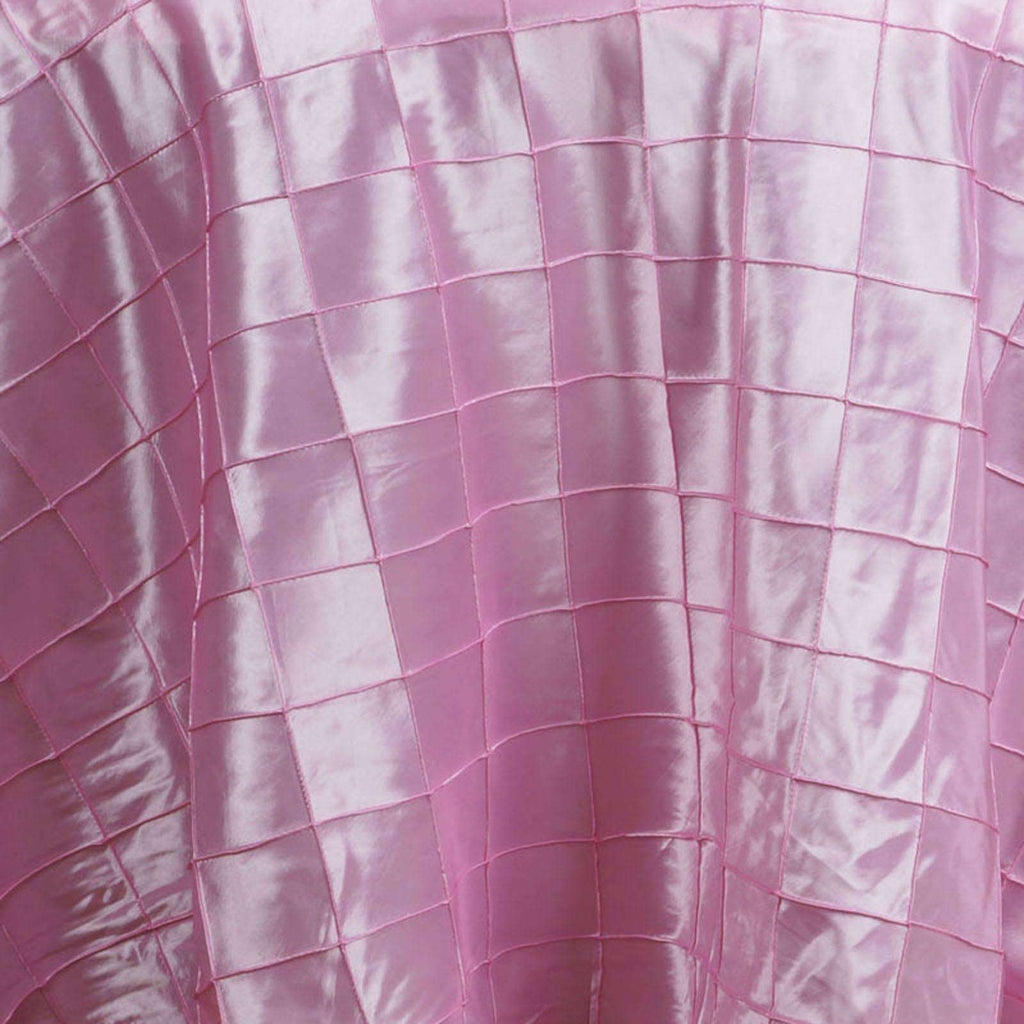 "108"" Round Tablecloth Pintuck - Pink"