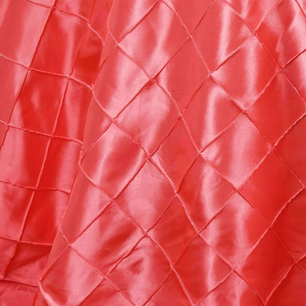 "120"" Round Tablecloth Pintuck - Coral"