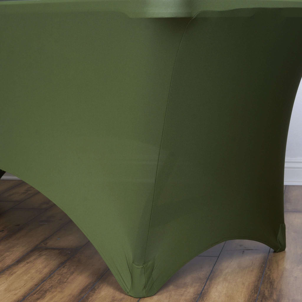 6 Ft Rectangular Spandex Table Cover - Willow Green