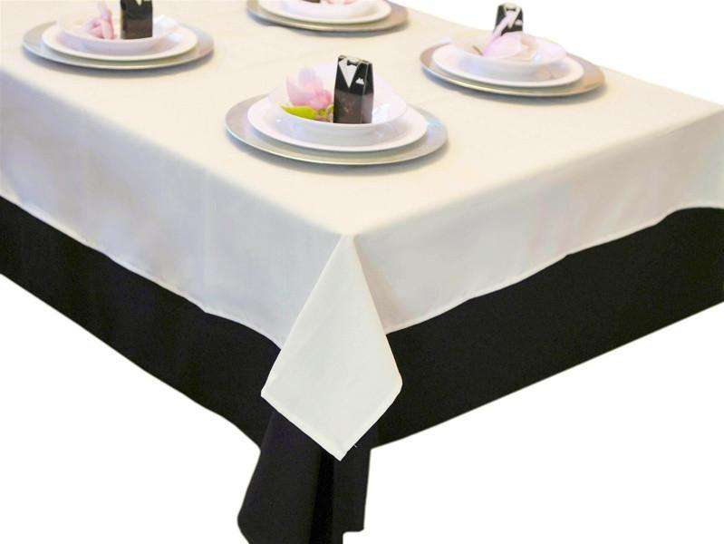 "Tuscany-Inspired *250gsm Tablecloth- 54"" Square Tablecloth Ivory"